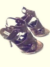 gorgeous crackle copper cage slingback Steve Madden platform heels  6