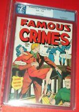 FAMOUS CRIMES #15 PRE CODE CRIME FOX 1950 PGX 7.5 VF-