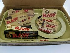 RAW 17pc Bundle Kit Gift Set Rolling Tray+Kingsize Papers Skins+Cone Tips+MORE