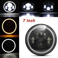 "2X 7"" Round LED Hi-Lo Headlights Turn Light Fit For Jeep JK Land Rover GQ PATROL"