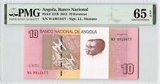 Angola 2012 P-151B PMG Gem UNC 65 EPQ 10 Kwanzas