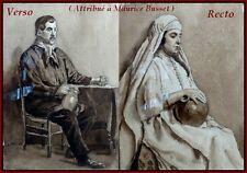 Maurice Busset La Marocaine & l'Auvergnat Encre de Chine Recto Verso Encre Chine