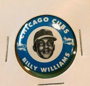 1969  BILLY WILLIAMS  Sunoco Baseball Pin Back Button  Cubs