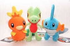 3Pcs/Lot Torchic Treecko Mudkip Plush Doll New Pokemon Center Stuffed Animal Toy