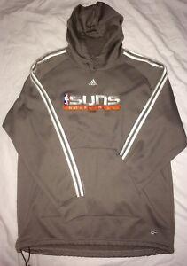 EUC NBA Phoenix Suns Adidas Apparel Hooded Sweatshirt W/Pockets Sewn Logo Mens M