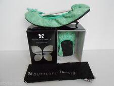 Butterfly Twists Folding Ballerinas Textured Green - UK 4  EU 37