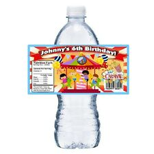 20 CARNIVAL FAIR PERSONALIZED BIRTHDAY PARTY FAVORS WATER BOTTLE LABELS WRAPPERS