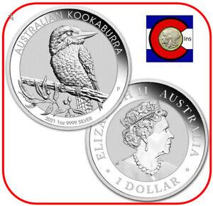2021 Australia Kookaburra 1 oz. Silver Coin - BU direct from Perth Mint roll