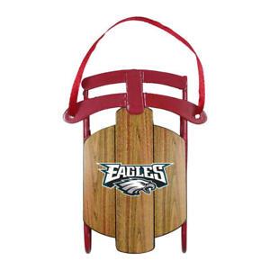 Philadelphia Eagles NFL Metal Sled Christmas Ornament - New in Box