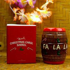 Tiki Mug Christmas Carol Barrel Rum Limited Edition FA LA LA XMAS