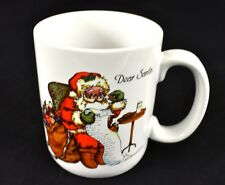 Vintage Christmas Coffee Mug Dear Santa