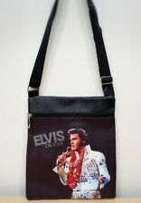 ELVIS PRESLEY Cross Body PVC Travel Passport latex PVC Purse NEW