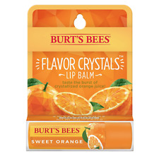 [BURT'S BEES] FLAVOR CRYSTALS 100% Natural Beeswax Lip Balm (SWEET ORANGE) NEW