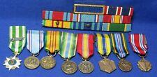 Vietnam War Usaf Air Force Hand Sewn Ribbons Bar & Dress Medals Lot Of 16