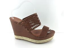 Via Spiga Women's Brown Leather Wedges 10 M