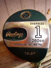 golf club: RAWLINGS Titanium Bi-Metal 260cc #1 DRIVER 10.5* graphite RH