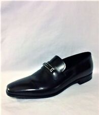 Pre-Owned PRADA Men's Leather Bit Black Loafers, Sz 7   FREE SHIPPING