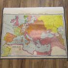 VTG 1964 Denoyer Geppert Social Sciences Classroom Map H12 Europe in 1648