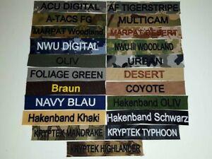 NAMETAPE NAMENSSCHILD  NAMENSBAND MIT STICK ARMY BW FEUERWEHR RETTUNGSDIENST