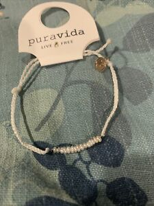 NEW Pura Vida White Mini Braided With Small Freshwater Pearls