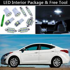 5PCS Xenon White LED Interior Lights Package kit Fit 11-2013 Hyundai Elantra J1