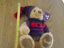 With tags, Harrods Thomas bear. 2004. Winter jumper & hat.  1/3