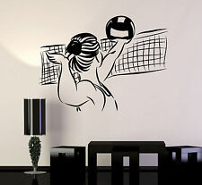 Vinyl Wall Decal Volleyball Player Ball Sports Girl Stickers Murals (ig4818)