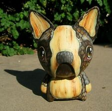 FONZO CUSTOM-PAINTED ACRYLIC ON VINYL FIGURE BY 64COLORS BOSTON TERRIER