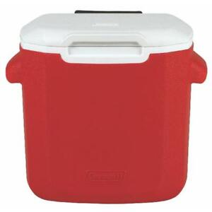 Coleman 16-Quart Performance Cooler with Wheels Portable Cooling, Red / Blue NEW