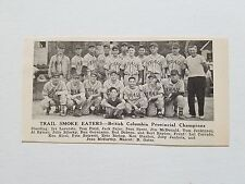 Trail Smoke Eaters British Columbia Canada 1951 Baseball Team Picture