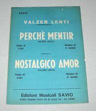 Spartiti SERIE VALZER LENTI Viri Sassi Liscio orchestra Fisarmonica
