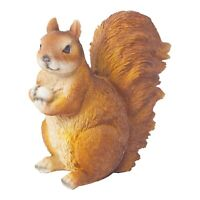 Squirrel Ornament Realistic Sitting Red Squirrel with Acorn Garden Ornament