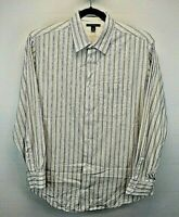 Banana Republic Long Sleeve Men's X-Large Button Up Shirt Multi Color Stripe