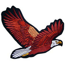 USA National Bird Embroidery Iron on Patch Bald Eagle Flying Eagle On Jacket New