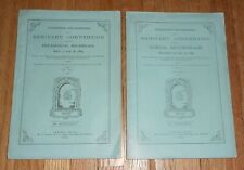 2 Antique Medical Pamphlets Sanitary Convention Held at Ionia, Michigan 1884