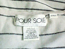 POUR SOIE GreyStriped77%SilkMixSleevelessKnit SizeS