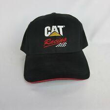 Cat Racing Equipment Caterpillar Snapback Hat Cap Black Red Mesh Trucker