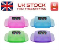 Bright Butter Dish With Clear Lid - Assorted Colours