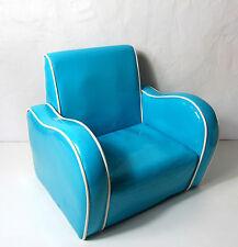 Fauteuil Club enfant Skaï bleu Vintage 70