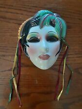 Ceramic Clay Art Woman Face San Francisco Mask Wall Hanging Decor 1989