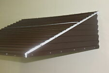 "58"" wide X 36"" deep X12"" high Brown aluminum awning Window Door Patio KIT"