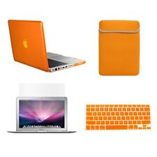 "4 in1 Crystal ORANGE Case for Macbook PRO 13"" + Keyboard Cover + LCD Screen+ Bag"