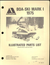 1975 ALSPORT BOA-SKI MARK I  SNOWMOBILE ILLUSTRATED PARTS MANUAL
