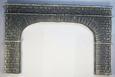 "TUNNEL PORTAL WIDE DBL TRACK STONE BLOCK ""O"" SCALE CAST FOAM ATHERTON (#6262-1)"