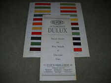 1928 1929 1930 1931 1932 1933 CHEVROLET WIRE WHEEL PAINT COLOR CHIPS BROCHURE
