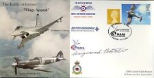 RAFA RAF Battle of Britain Wings cover signed WWII WW2 pilot RAYMOND BAXTER