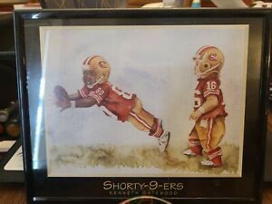 '96 Shorty-9-ers Print of Joe Montana and Jerry Rice by Kenneth Gatewood