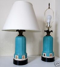 PAIR Hollywood Regency  MCM Lamps Bronze/Ceramic Art Deco Modernist  REWIRED   $
