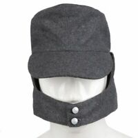 WW2 Army Cap Hat Field Wool Gray Collectable EM Panzer Cosplay Soft Quality Gift