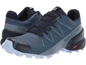 Salomon Women's Speedcross 5 Running Trail Shoes US 8 Navy/Heather L408012